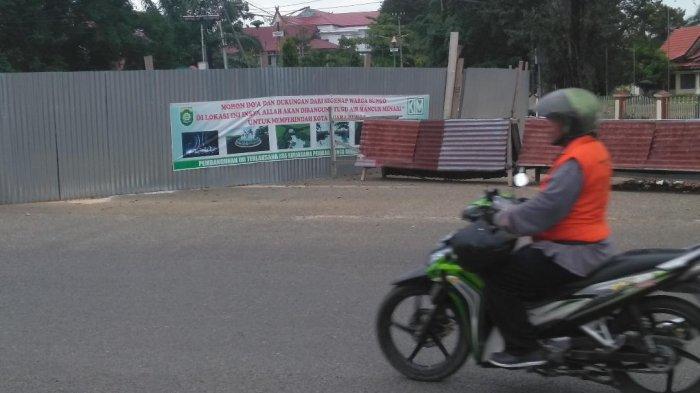 Pembangunan Tugu Air Mancur Menari di Bungo, Lewati Batas Waktu, Pemkab Desak Kontraktor