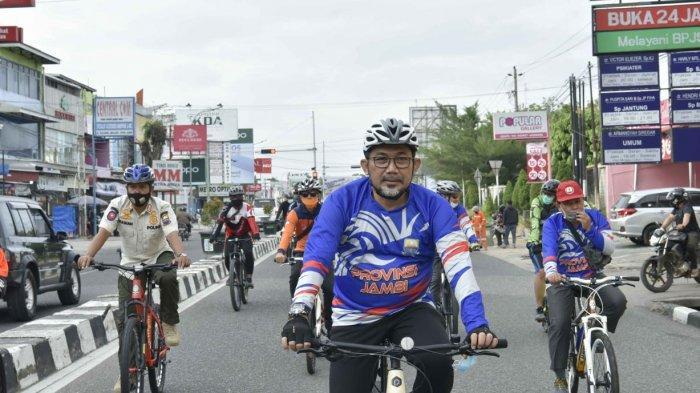 Sekda Lepas Gowes Virtual HUT ke-64 Provinsi Jambi