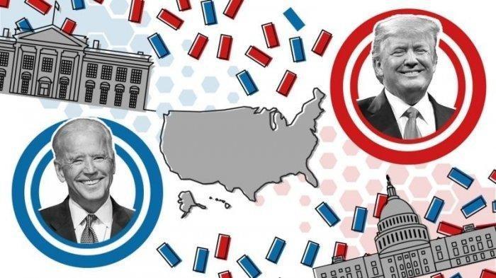 Pemilu presiden AS 2020 Donald Trump vs Joe Biden.