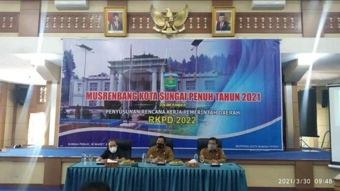 Pemkot Sungaipenuh Gelar Musrenbang2021 dan Susun RKPD 2022