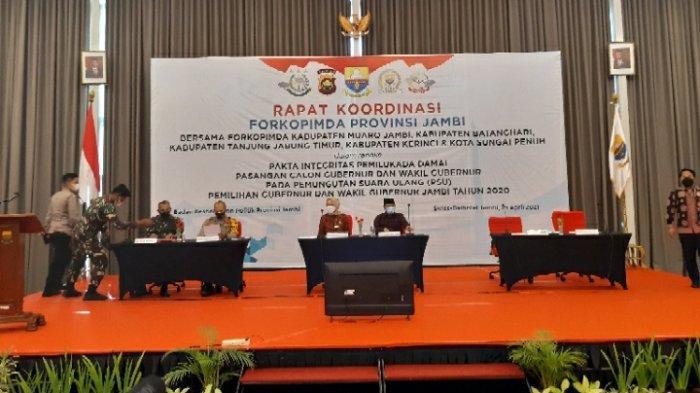 Pemprov Jambi Gelar Rakor Pakta Integritas Pemilukada Damai Pada PSU