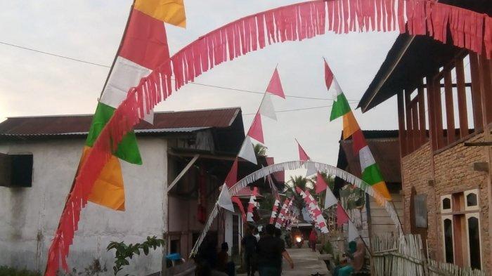 Peringati HUT RI ke 75, Warga Baru Semerah Kerinci Sulap Barang Bekas untuk Menghias Desa