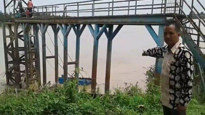 Intake PDAM Unit Mendalo Laut Miring Belum Ada Perbaikan, 8.300 Pelanggan Terancam