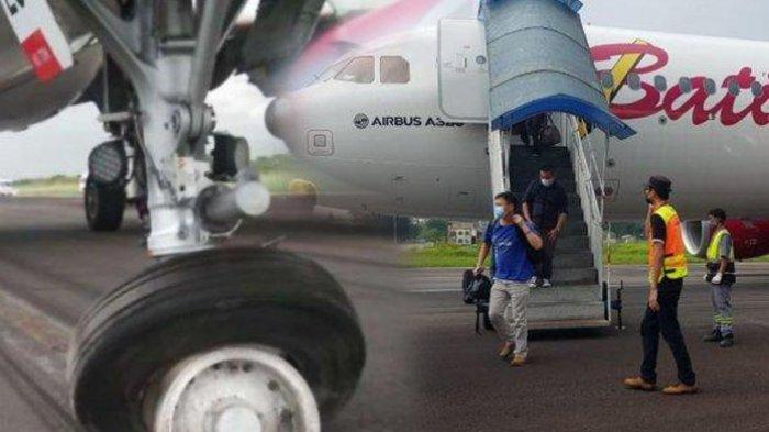 Bandara Sultan Thaha Sudah Aman, Proses Evakuasi Pesawat Batik Air Yang Rusak Ban Berhasil Dilakukan