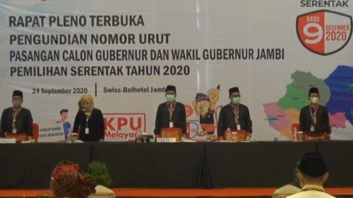 KPU Jambi Perketat Protokol Kesehatan, Pencabutan Nomor Urut Hanya Diikuti Paslon