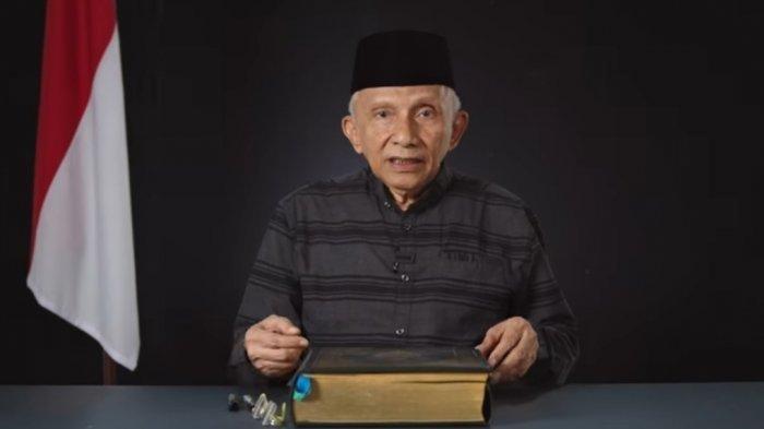 Pendiri Partai Ummat, Amien Rais komentari dualisme Partai Demokrat.