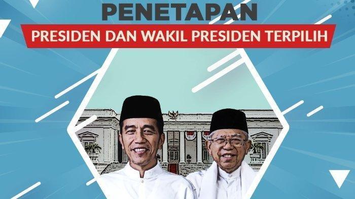 Live Streaming KompasTV Penetapan Presiden & Wakil Presiden, Joko Widodo-Maruf Amin oleh KPU