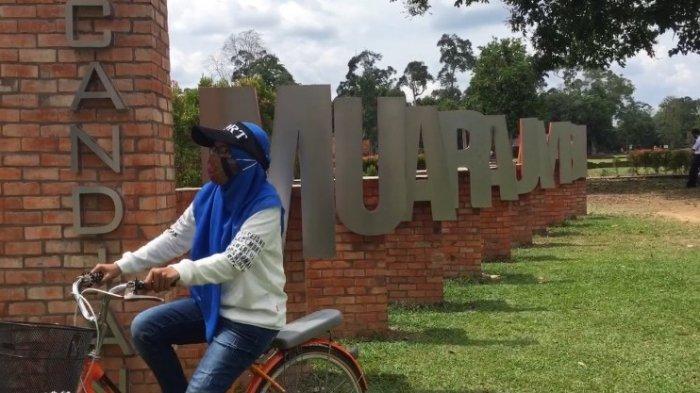 Tak Pakai Masker Dilarang Masuk Candi Muaro Jambi, Pengunjung Dibatasi Hanya 50 % Akibat Covid-19