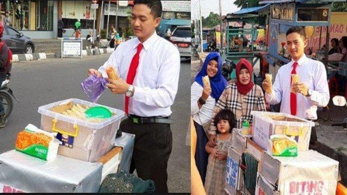 Kisah Pilu Dibalik Pakaian Necis Sutrisno Penjual Mie Lidi di Pekalongan