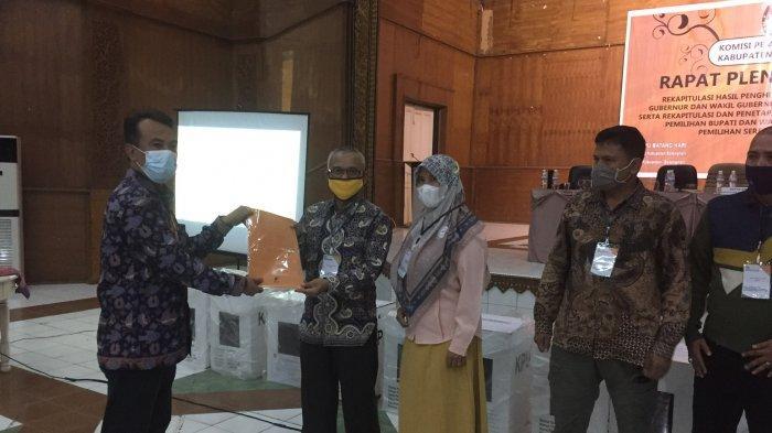 Rekapitulasi Suara Pilkada Batanghari 2020 Telah Selesai, Paslon Ucap Selamat ke Fadhil-Bakhtiar