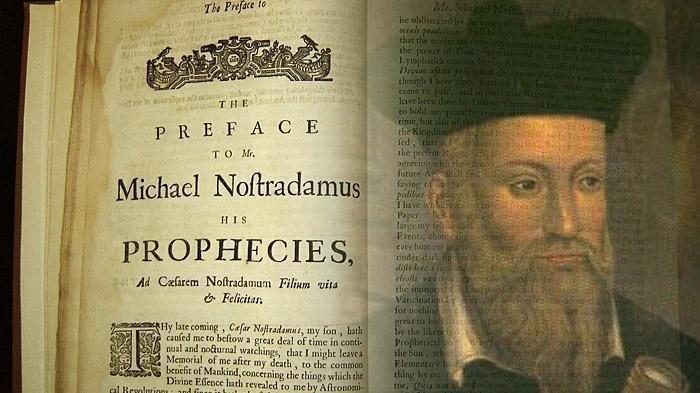 Nostradamus dan buku ramalannya - Ia merupakan pengarang ramalan ternama di dunia. Dia terkenal dengan hasil karyanya berjudul Les Propheties yang terbit untuk pertama kalinya pada tahun 1555.