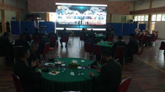 Peringati HUT TNI ke-75 Secara Virtual, Mashuri: Kami Bangga dengan TNI