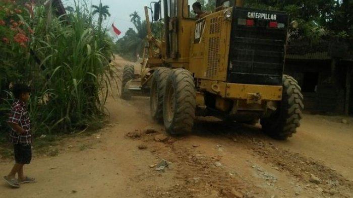 Perbaikan Jalan di Kecamatan Senyerang, Tanjabbar, Dapat Gelontoran Dana dari Provinsi Jambi