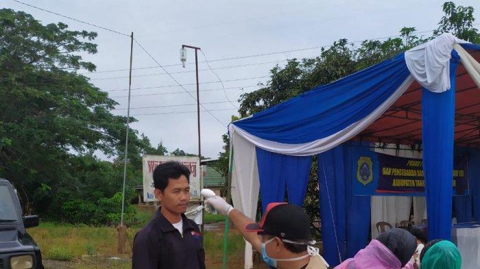 Menuju New Normal, Penjagaan di Pos Perbatasan Kabupaten Tanjabtimur Tetap Dilakukan