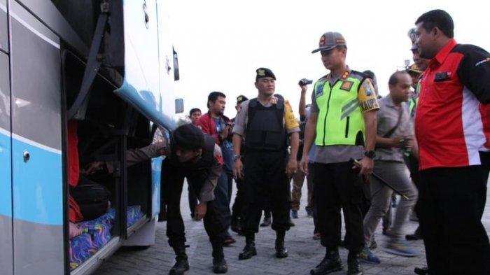 Empat Bom Molotov Diamankan Polisi dari Bus Pengangkut Massa Aksi 22 Mei 2019