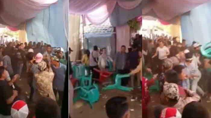 Bentrok, Mantan Datang Malah Bikin Keributan di Pesta Pernikahan, Lempar Kursi, Rusuh