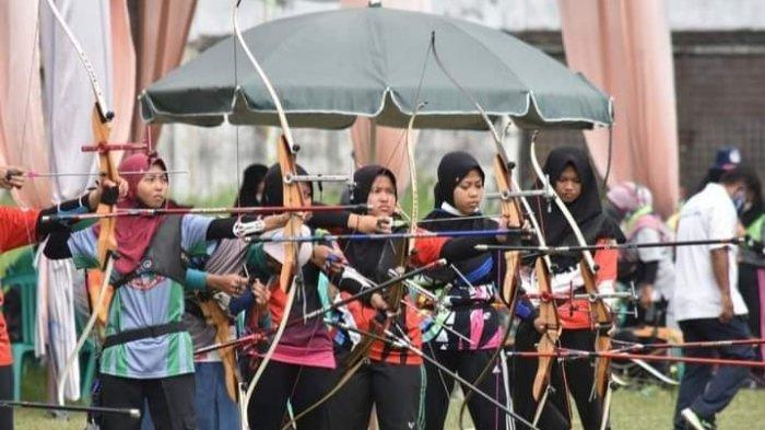 Atlet Perpani Tanjab Timur Adu Skil di Ajang Open Panahan se-Sumatra, Ciptakan Rekor Terbaik