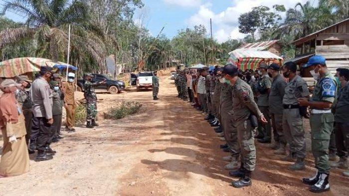 130 Personel Gelar Sosialisasi, Seminggu Tenggat Warga Bongkar Pondok Illegal Drilling di Batanghari