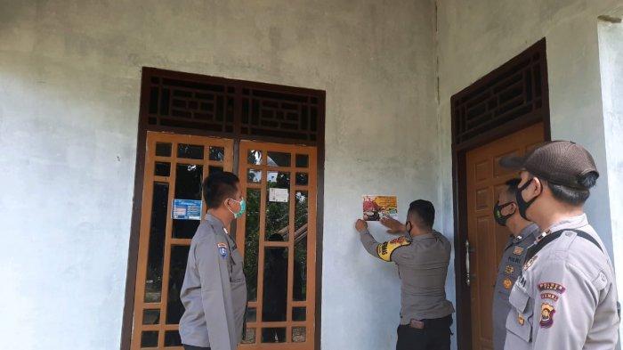 Rumah Warga Ditempel Stiker,Wajib Swab Bagi yang Mudik