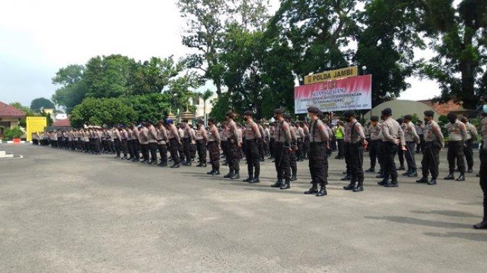 1.200 Personil Polda Jambi Diberi APD Lengkap, Disiapkan Untuk Pengamanan TPS Pilkada Serentak