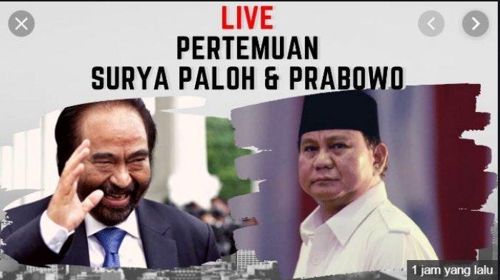 Gestur Prabowo Subianto Usai Ketemu Surya Paloh, Sempat Bilang
