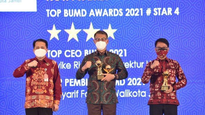 Perumdam Tirta Mayang Kota Jambi Raih Top BUMD Awards 2021, Komitmen Meningkatkan Pelayanan
