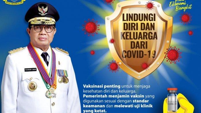 Faktor Usia, Gubernur Jambi Fachrori Umar Tidak Ikut Divaksin Covid-19 Untuk Tahap I