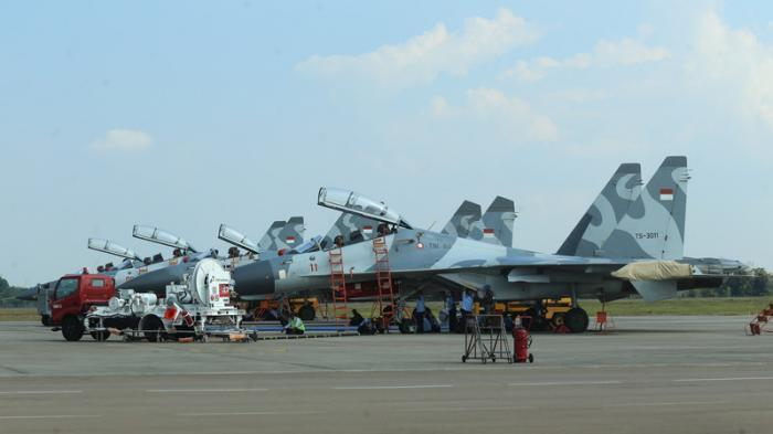 Pesawat Sukhoi Indonesia Kembali Kejar Pesawat Asing yang Masuk Teritori