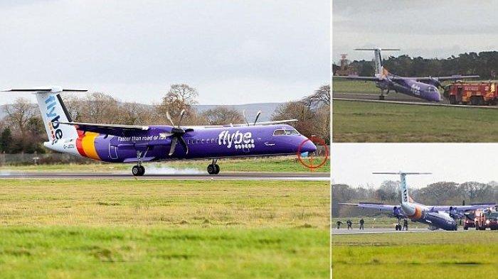 Semua Penumpang Selamat, Pilot Ini Berhasil Mendaratkan Pesawat Meski Tanpa Roda Depan