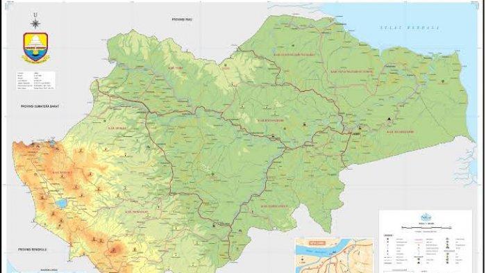 WIKIJAMBI Daftar Kabupaten/Kota di Provinsi Jambi, Lengkap dengan Luas Wilayah dan Jumlah Penduduk
