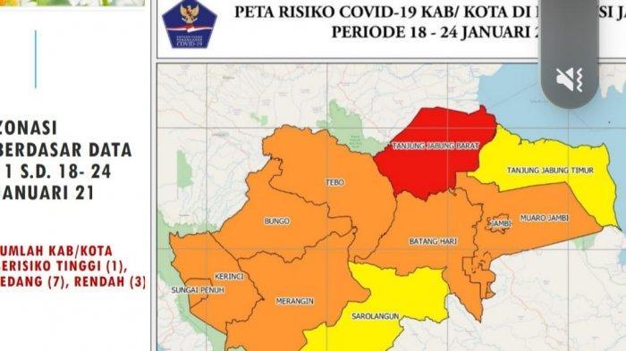 WASPADA, Tanjung Jabung Barat Zona Merah Penyebaran Covid-19, Total 469 Kasus Positif
