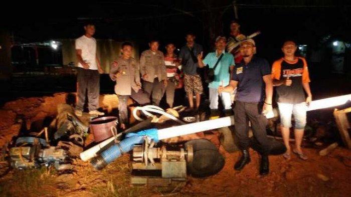 BREAKING NEWS 5 Penambang Liar di Sungai Kapas Ditangkap, PETI di Merangin