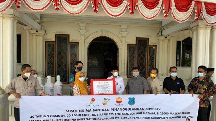 SKK Migas - PetroChina International Jabung Ltd Bantu Tangani Covid-19 di Tanjab Barat