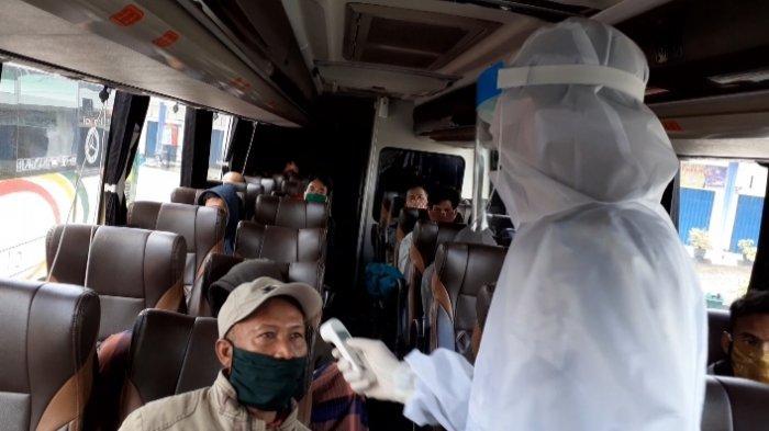 Kepala Terminal Sarolangun: Bus yang Beroperasi Harus Menerapkan Protokol Kesehatan Covid-19