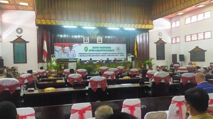Pidato Pertama Mashuri Setelah Dilantik Saat Paripurna Sepi, Banyak Anggota DPRD dan OPD Tak Hadir