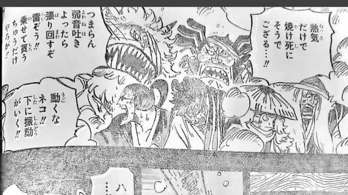 One Piece Chapter 971 - Terpidana Eksekusi Direbus Hidup-hidup, Oden Menari Untuk Bebaskan Krunya