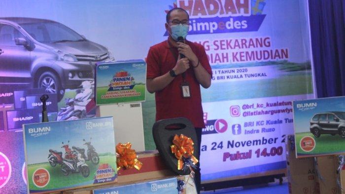 Pimpinan Cabang BRI Kuala Tungkal Reza Dwi Cahya putra