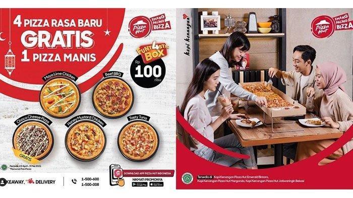 PROMO Pizza Hut Minggu 25 April 2021, Beli 4 Pizza Hanya Rp 100 Ribu Bonus 1 Pizza Manis