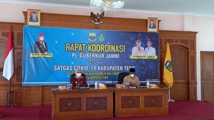 Rapat Bersama PJ Gubernur, Wabup Syahlan Ungkap Tebo Butuh 10 Ribuan Vaksin Lagi Untuk Masyarakat