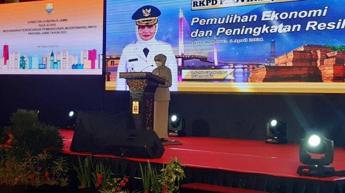 Pj Gubernur Jambi Hari Nur Cahya Murni Buka Musrembang RKPD Provinsi Jambi Tahun 2022