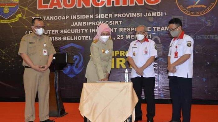 Pj Gubernur Jambi Launching Tim Tanggap Insiden Siber Provinsi Jambi