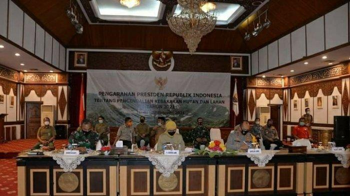 Penanganan Karhutla di Jambi, Pj Gubernur Rapat Bersama Dengan Presiden