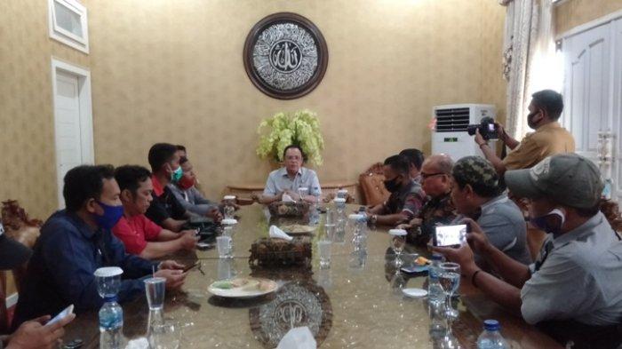 Coffe Morning Bersama Awak Media, Pjs Bupati Tanjabtim Sampaikan Soal Banjir