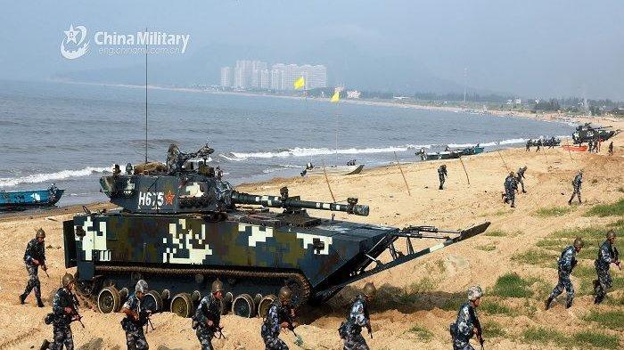 BAK Siap Perang! China Gelar Latihan Militer di Laut Sengketa Saat Kapal Induk Inggris Akan Datang