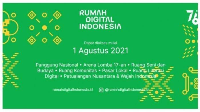 Perayaan HUT RI ke 76 Secara Virtual Melalui Platform Rumah Digital Indonesia, Tersedia Aneka Lomba