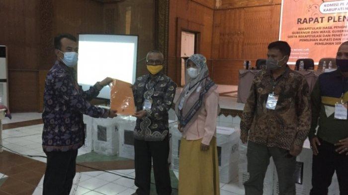 KPU Tetapkan Perolehan Suara Pilbup Batanghari 2020, Fadhil-Bakhtiar Unggul Selisih 10.000