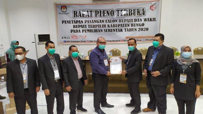 KPU Bungo Sebut Pelantikan Mashuri-Syafruddin Dwi Apriyanto Sesuai dengan Periodesasi