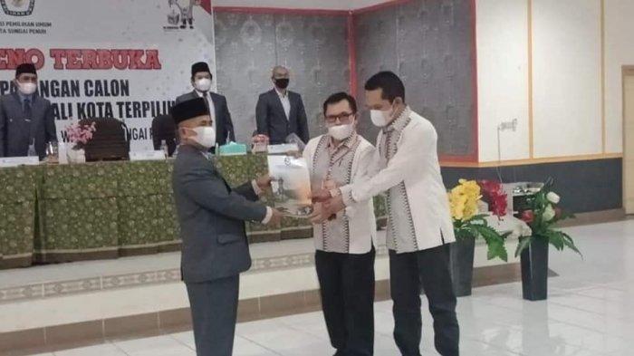 BREAKING NEWS KPU Tetapkan Ahmadi-Antos Wako dan Wawako Sungai Penuh Terpilih