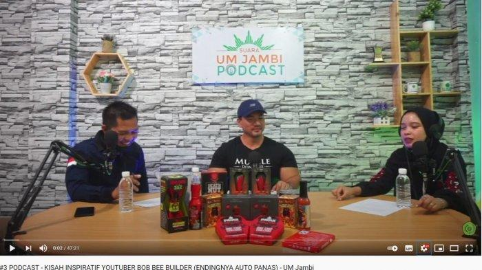 Datangi Podcast UM Jambi, Bob Bee Builder Ungkap Bantu UMKM Berkembang Melalui Channel Youtube