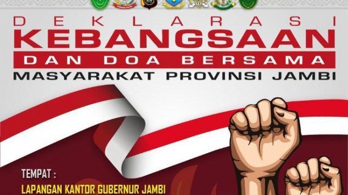 Polda Jambi Gelar Deklarasi Kebangsaan dan Doa Bersama di Lapangan Kantor Gubernur Jambi